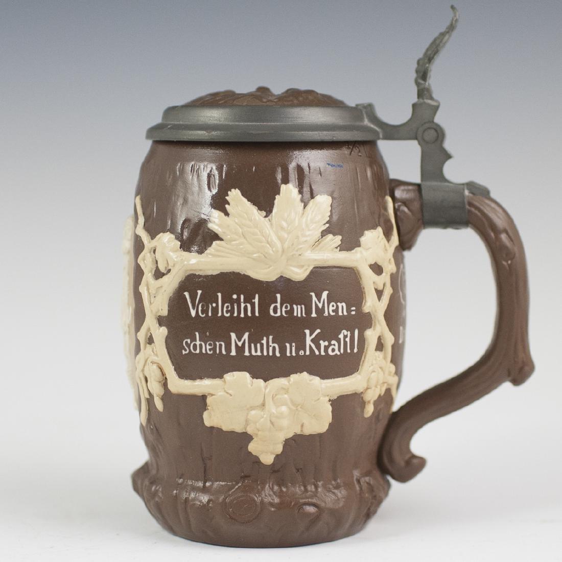 Antique Villeroy & Boch Porcelain Beer Stein