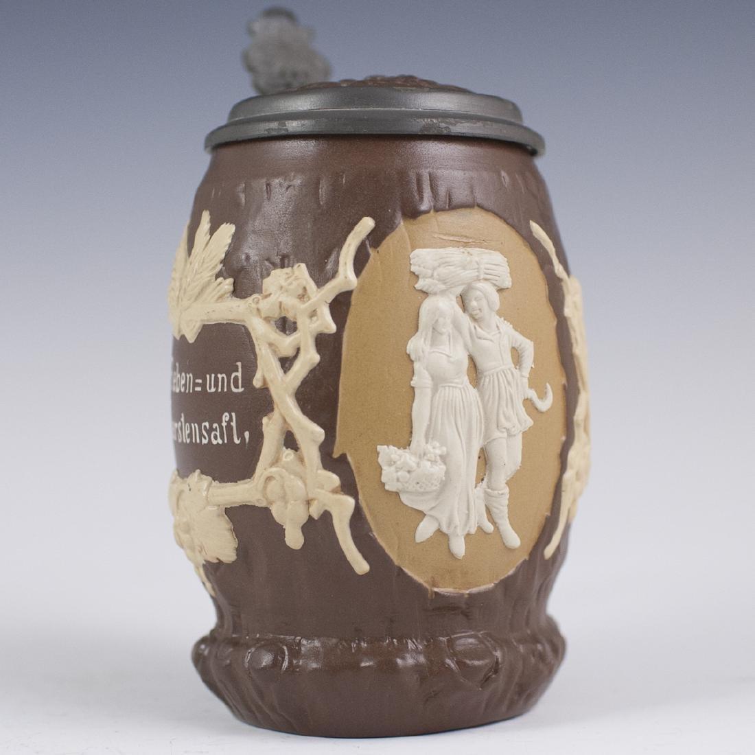 Antique Villeroy & Boch Porcelain Beer Stein - 2