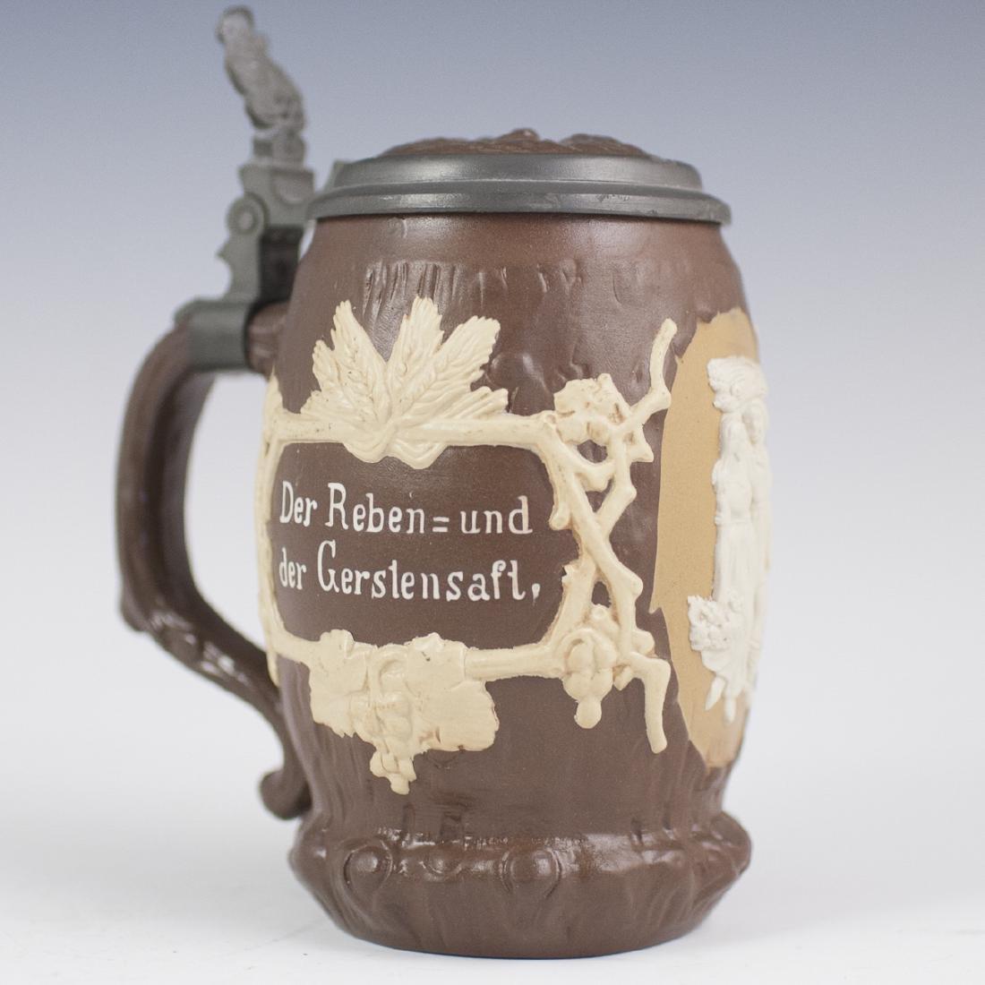 Antique Villeroy & Boch Porcelain Beer Stein - 4