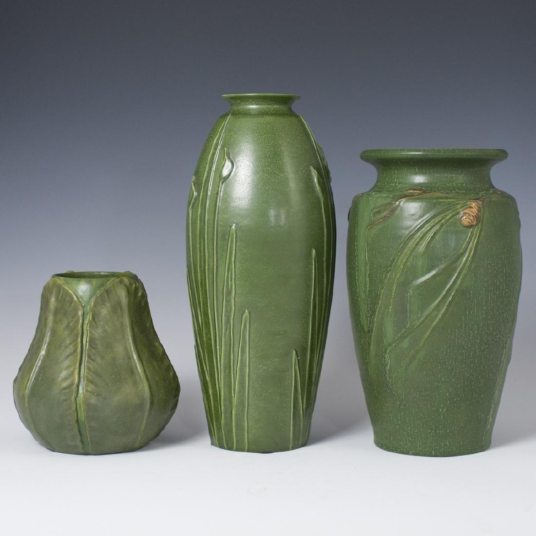 Ephraim Faience Pottery Vases