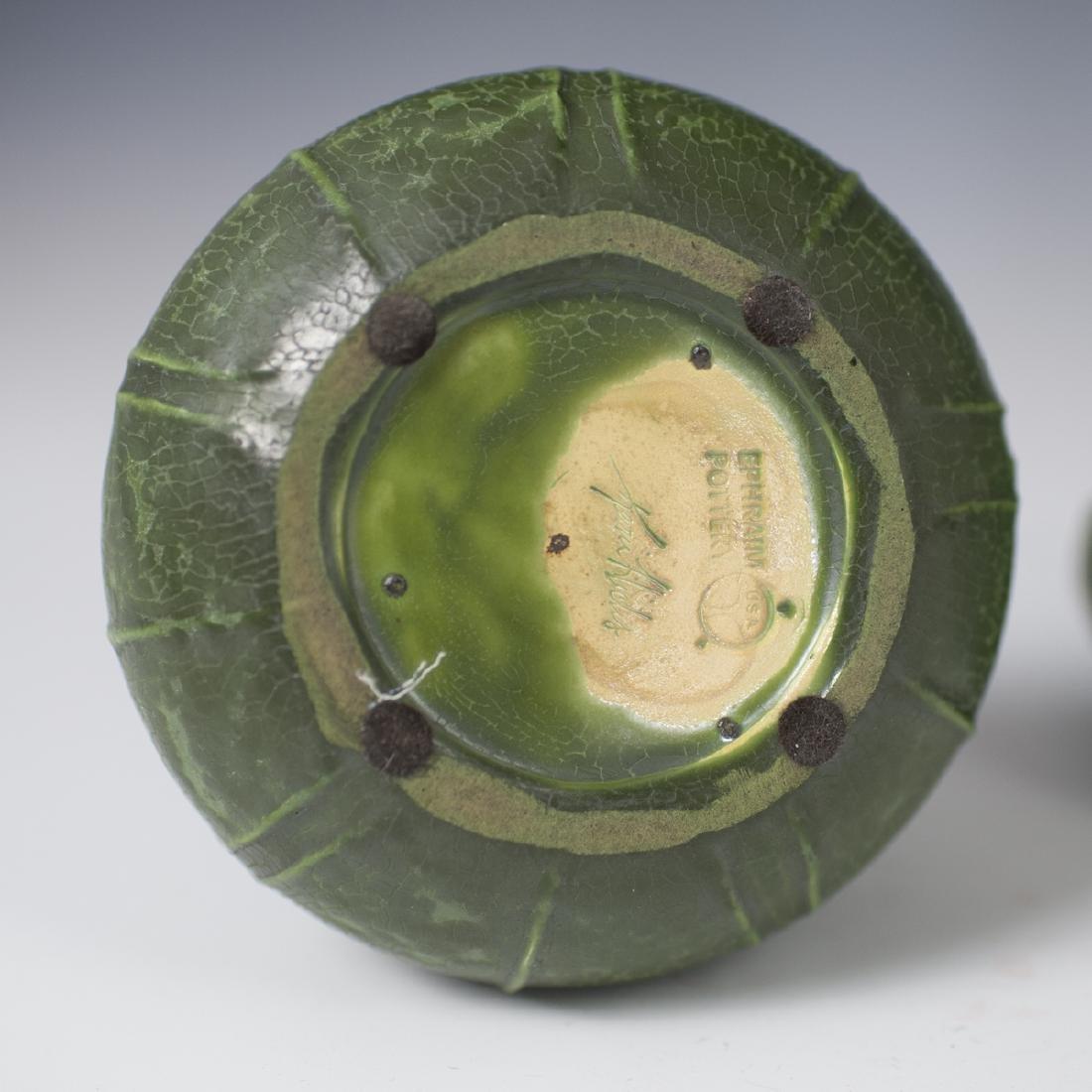 Ephraim Faience Pottery Vases - 3