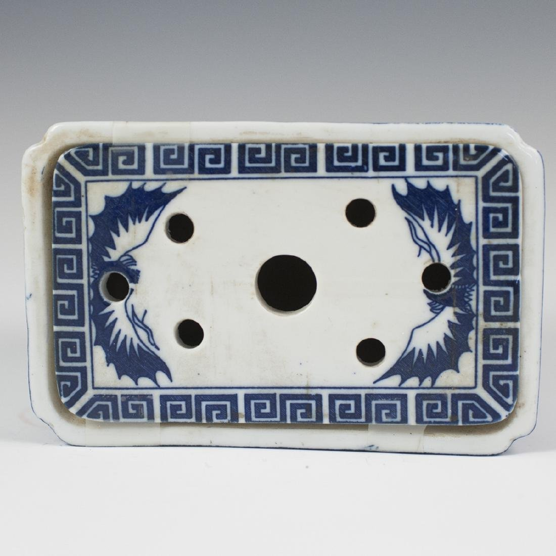 Chinese Porcelain Blue & White Bough Pot - 4