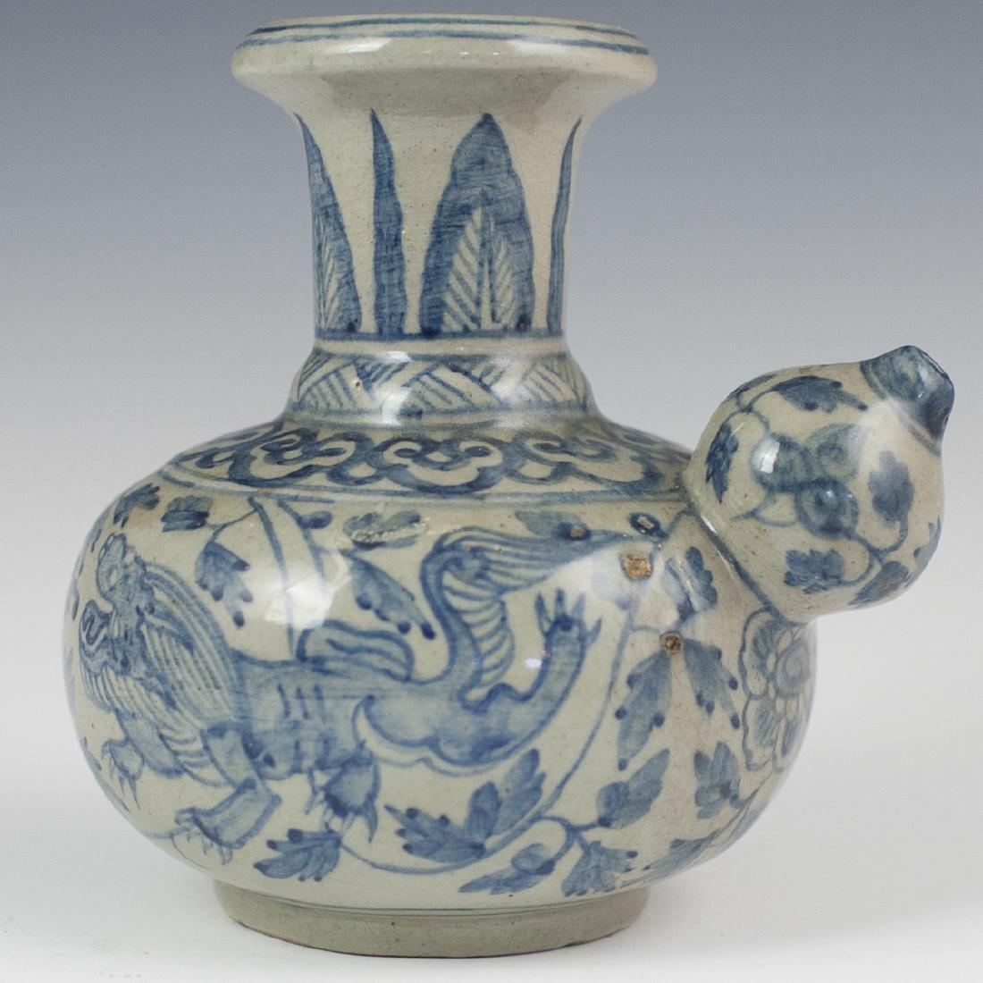 Antique Chinese Porcelain Blue & White Kendi