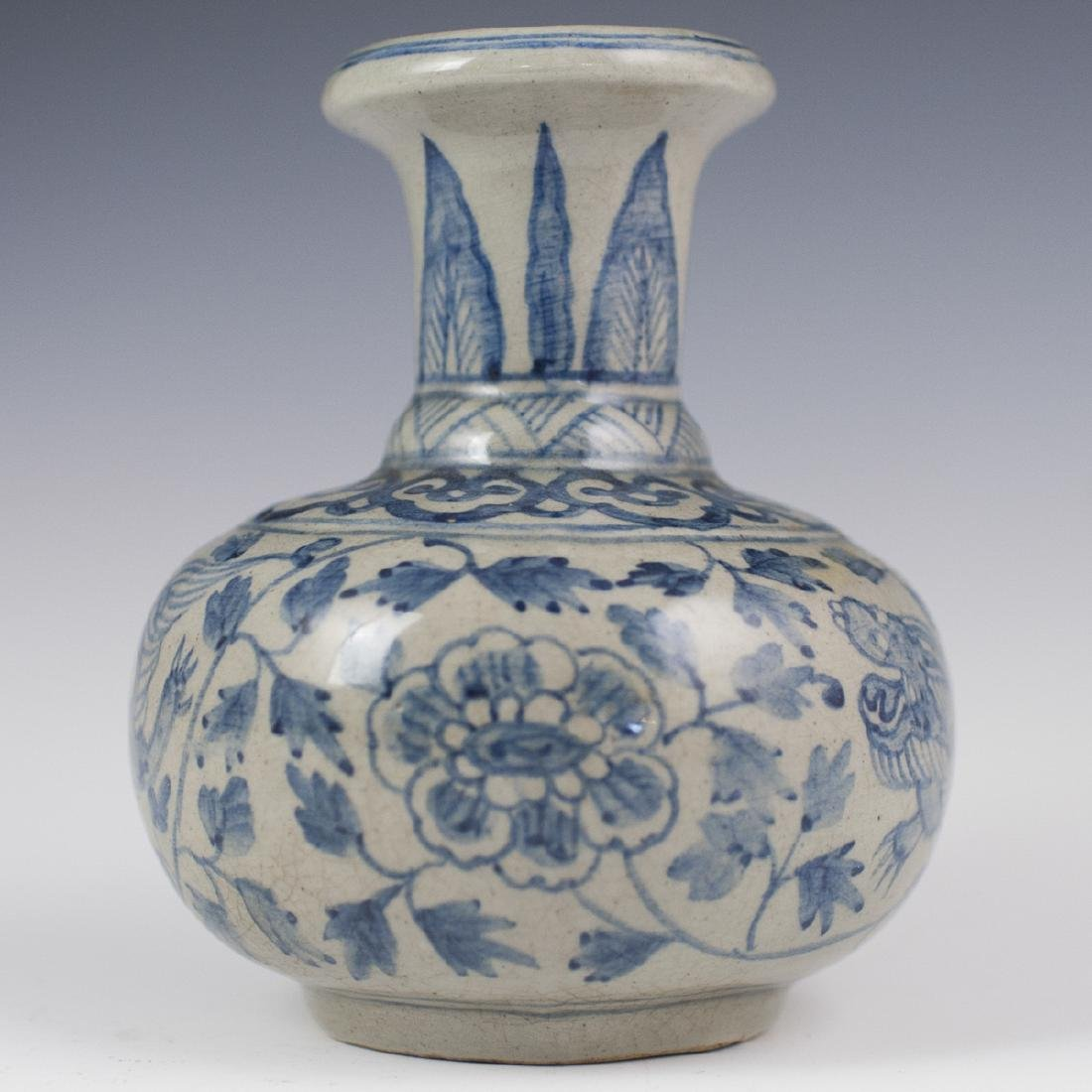 Antique Chinese Porcelain Blue & White Kendi - 6