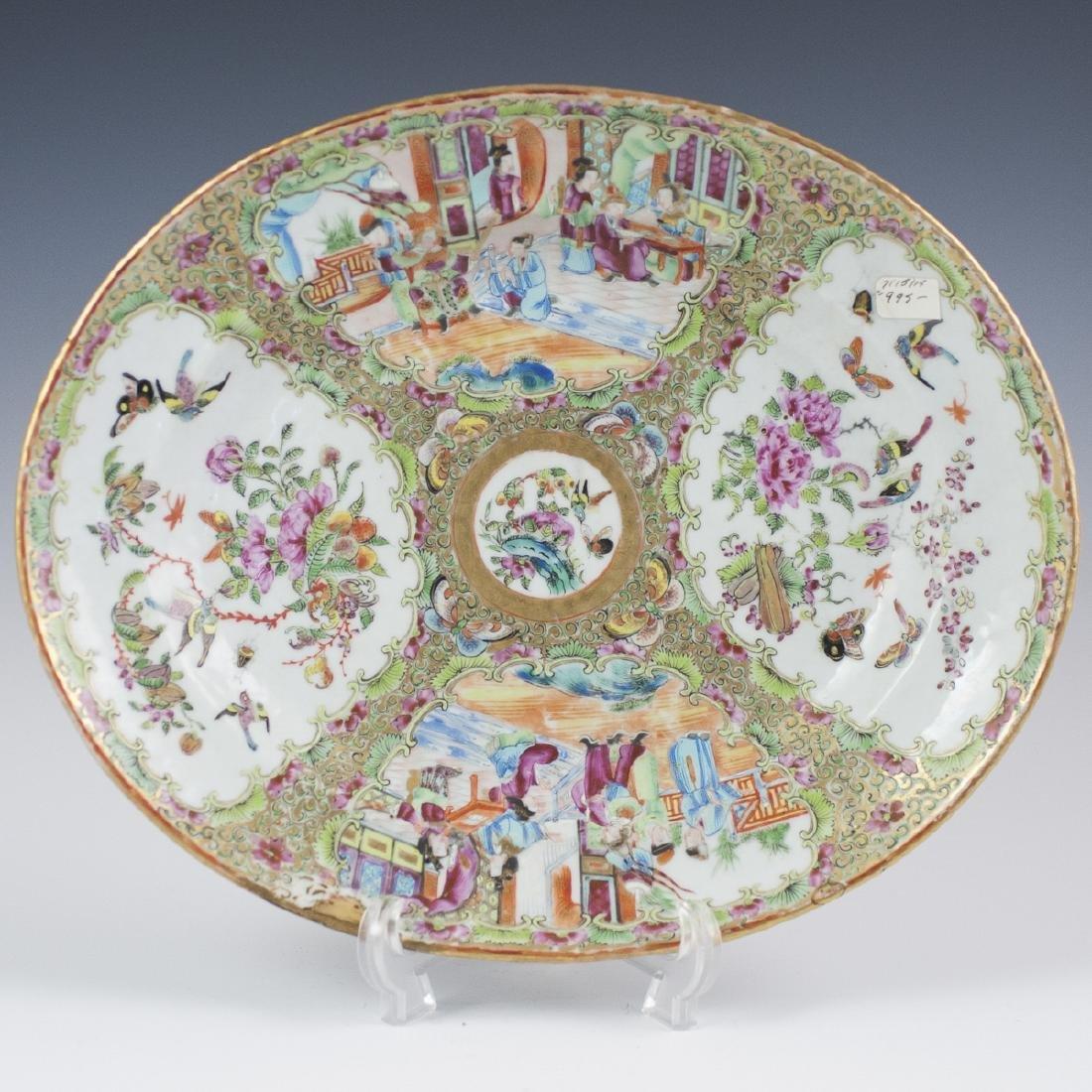 Chinese Porcelain Rose Medallion Tray