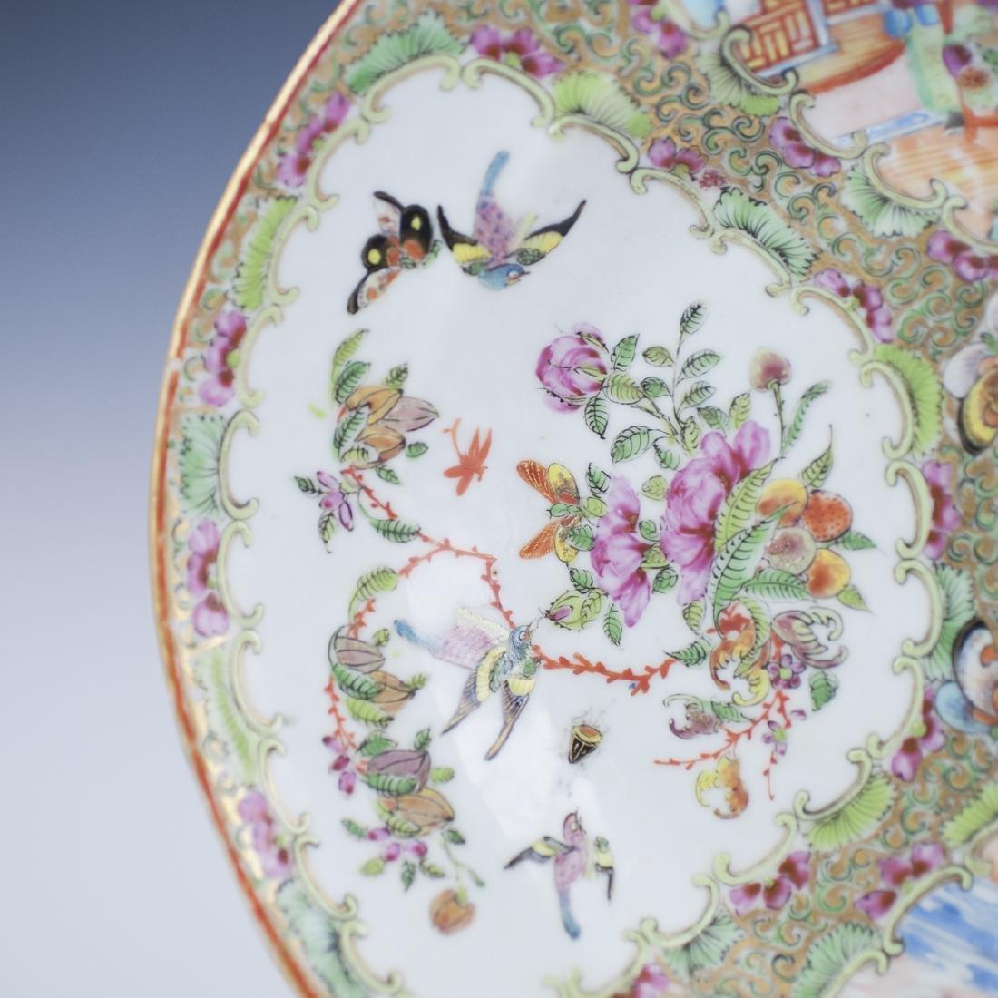 Chinese Porcelain Rose Medallion Tray - 4