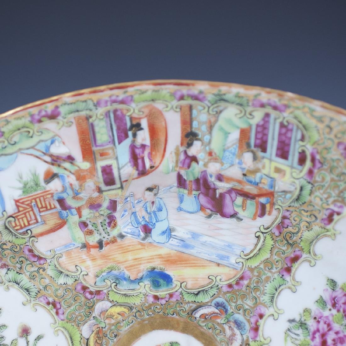 Chinese Porcelain Rose Medallion Tray - 5