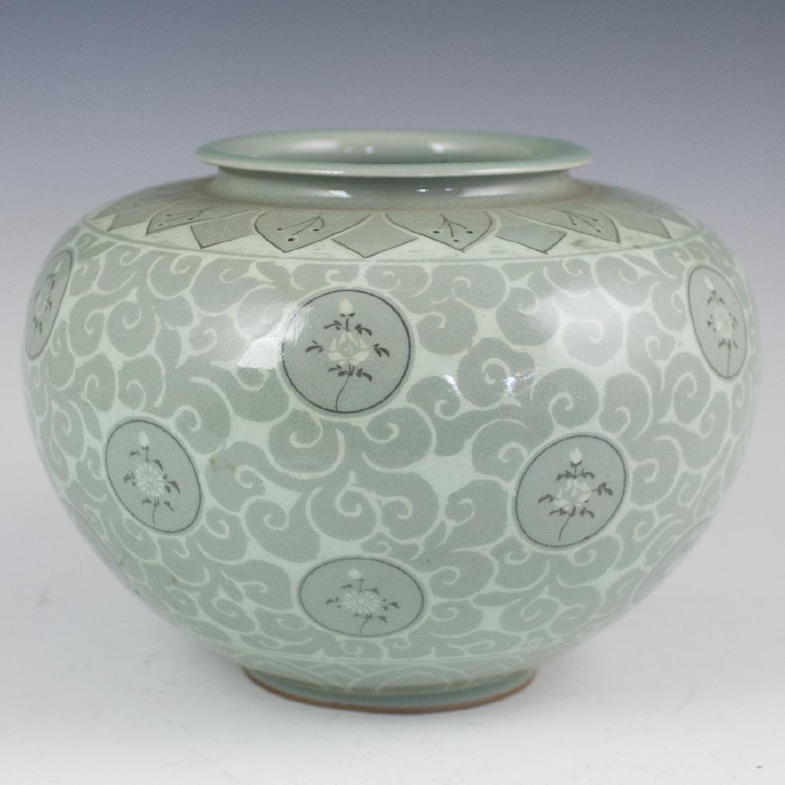 Korean Celadon Porcelain Vase