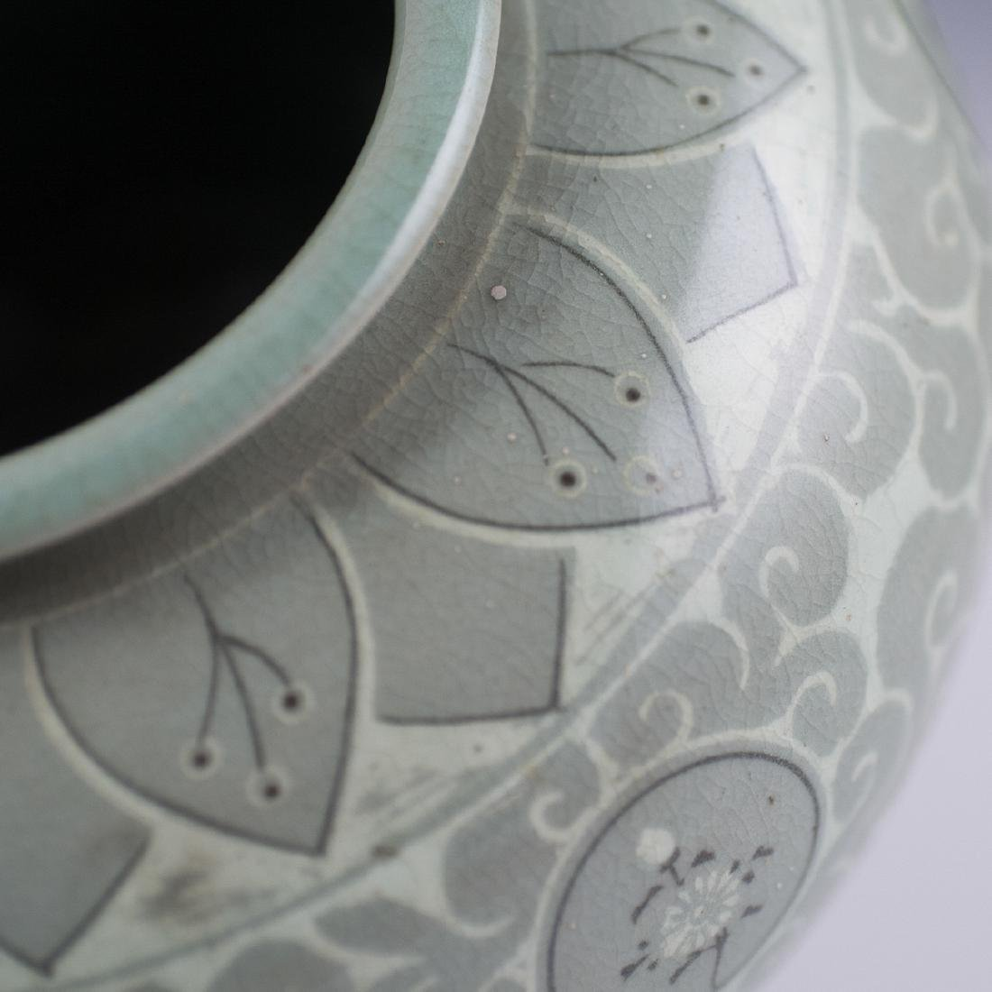 Korean Celadon Porcelain Vase - 5