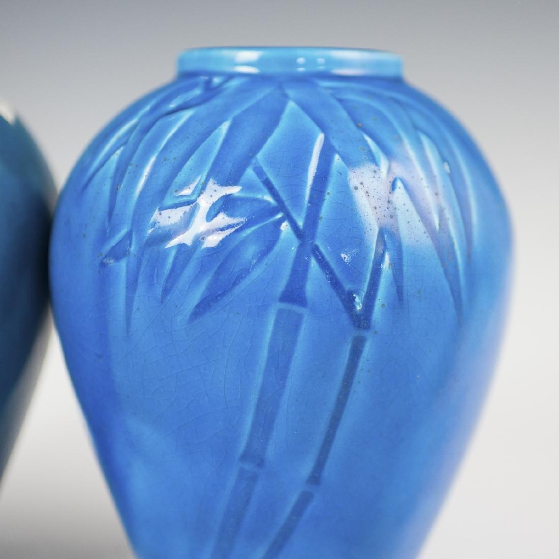 Chinese Turquoise Glazed Porcelain Vases - 2