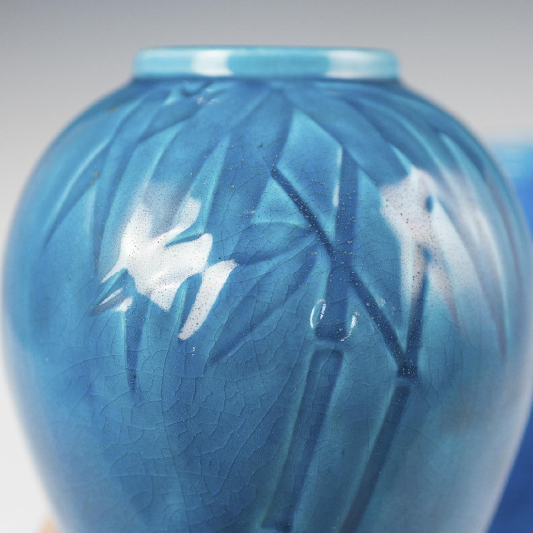 Chinese Turquoise Glazed Porcelain Vases - 3