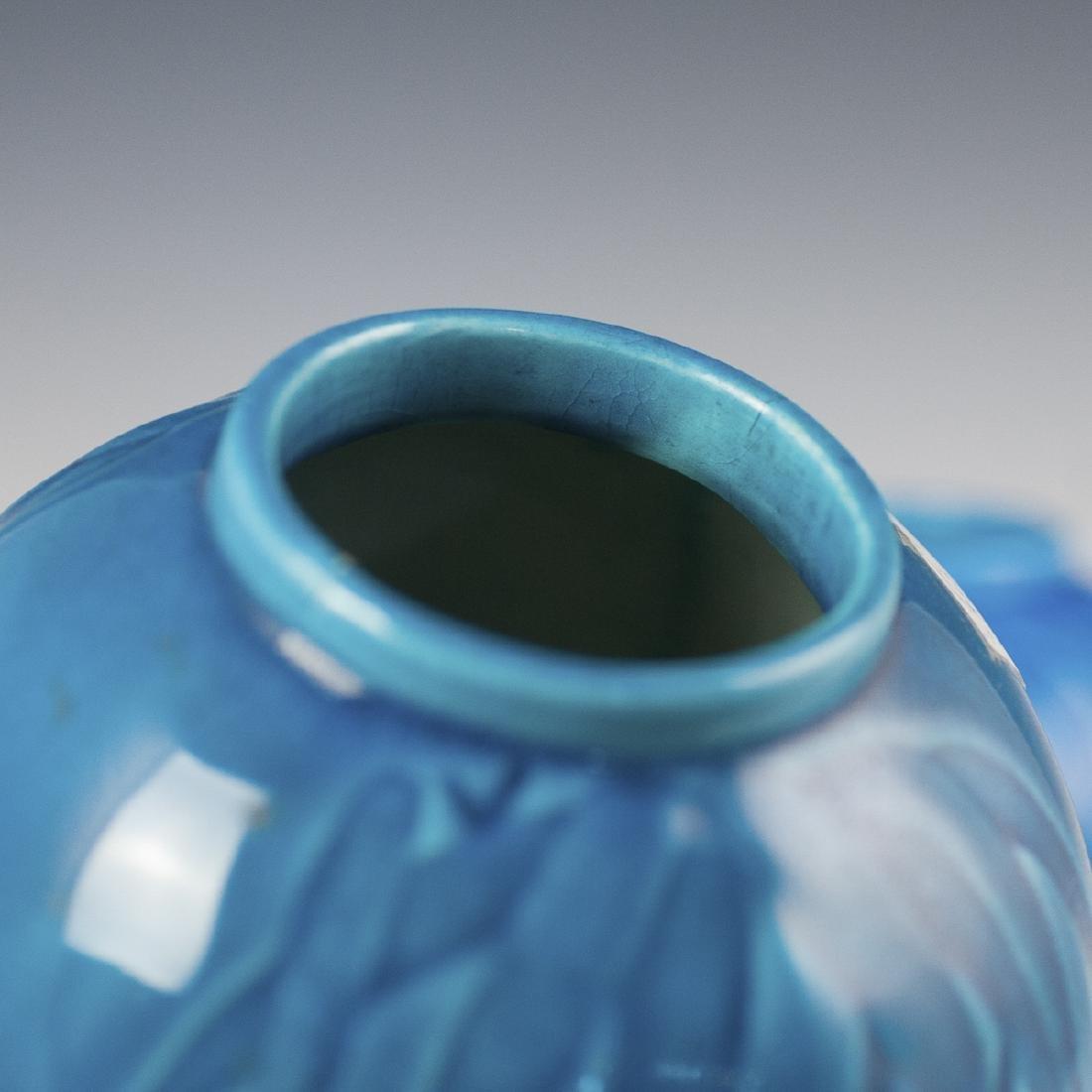 Chinese Turquoise Glazed Porcelain Vases - 4