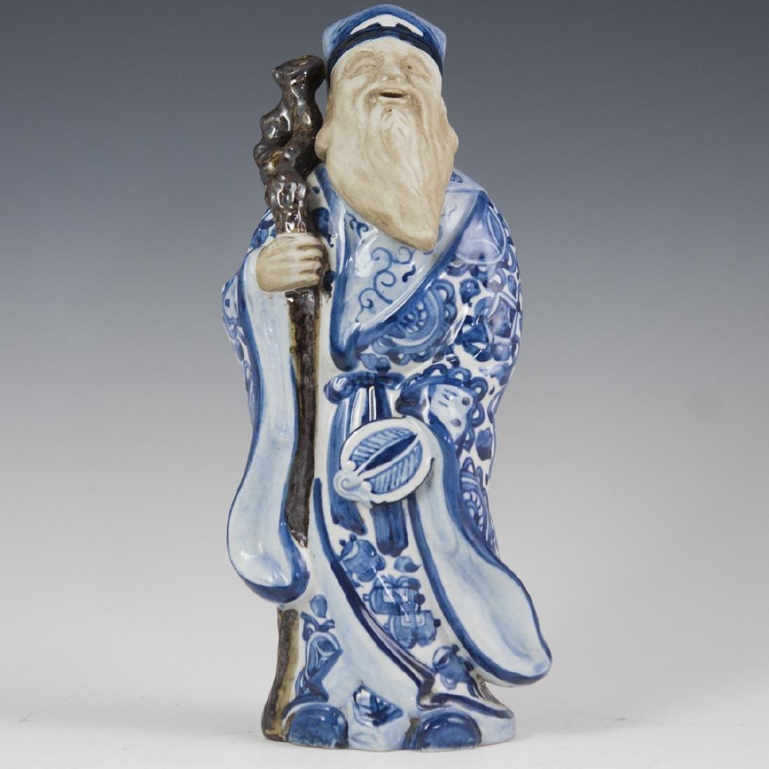 Chinese Glazed Pottery Shou Xing Figurine
