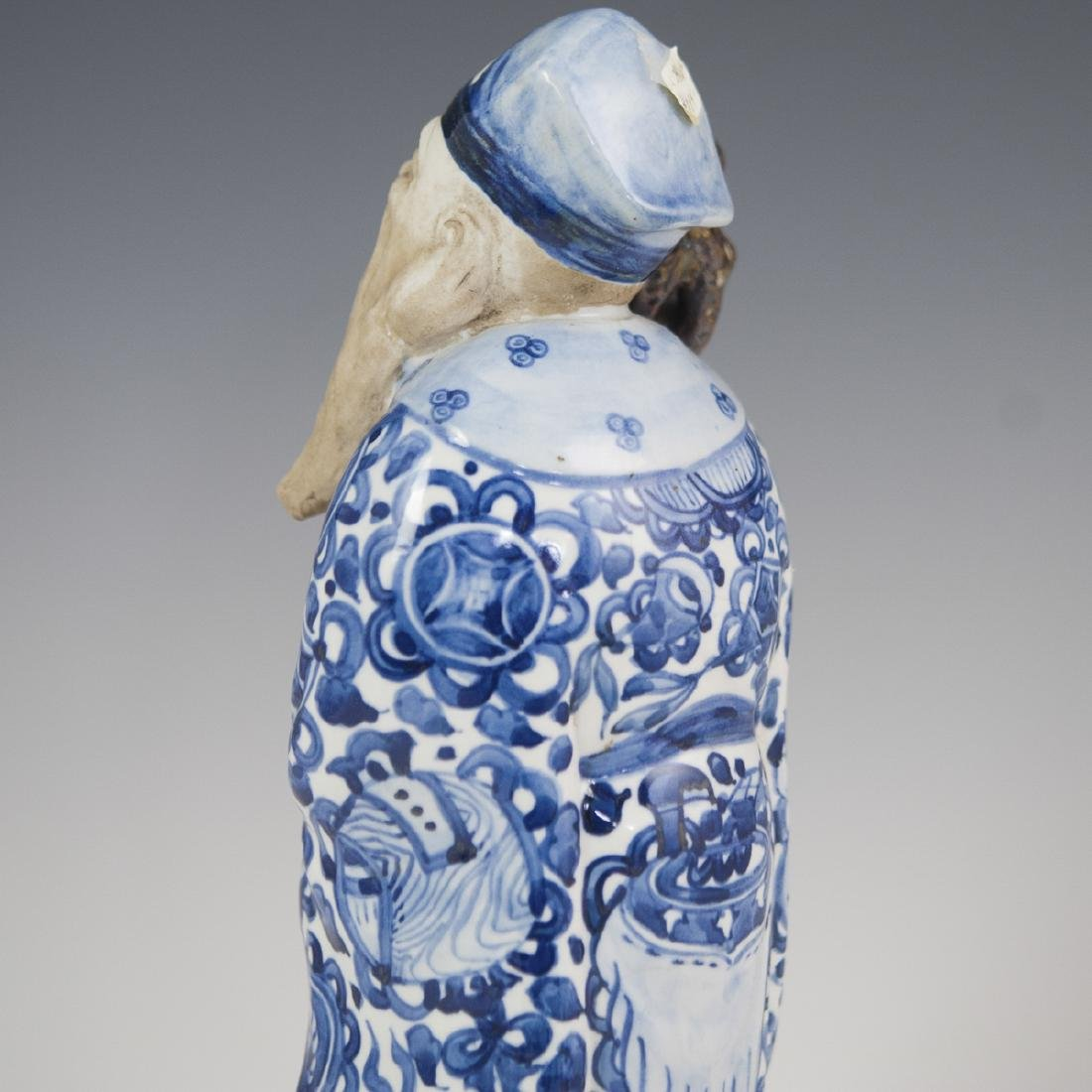 Chinese Glazed Pottery Shou Xing Figurine - 4