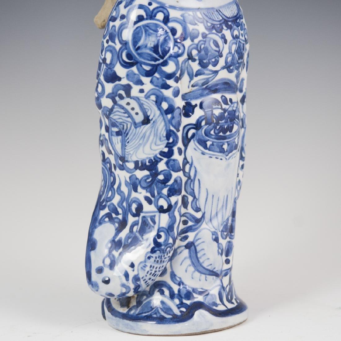 Chinese Glazed Pottery Shou Xing Figurine - 5