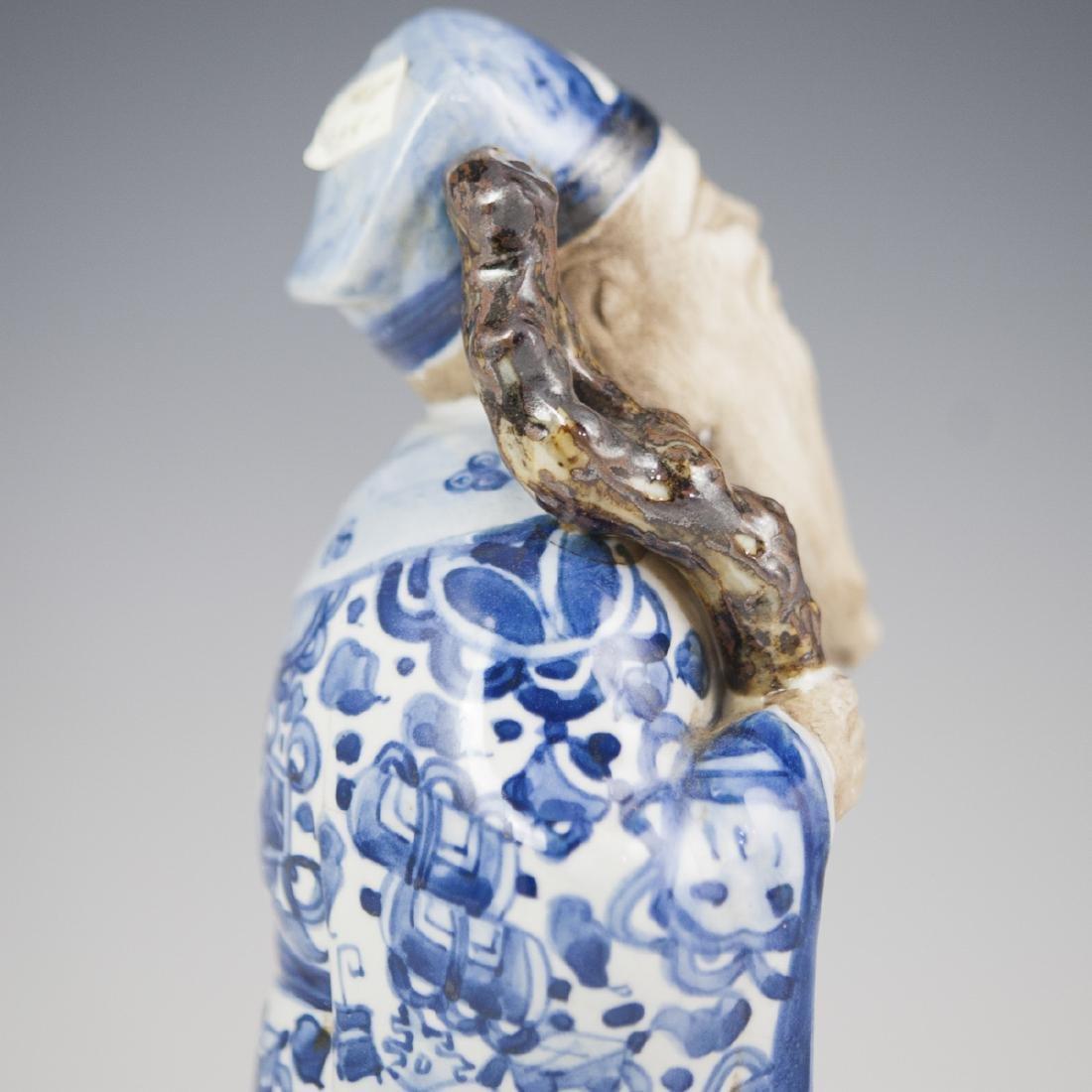 Chinese Glazed Pottery Shou Xing Figurine - 6