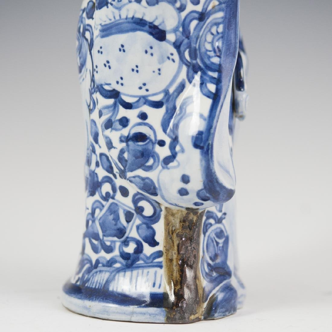 Chinese Glazed Pottery Shou Xing Figurine - 7