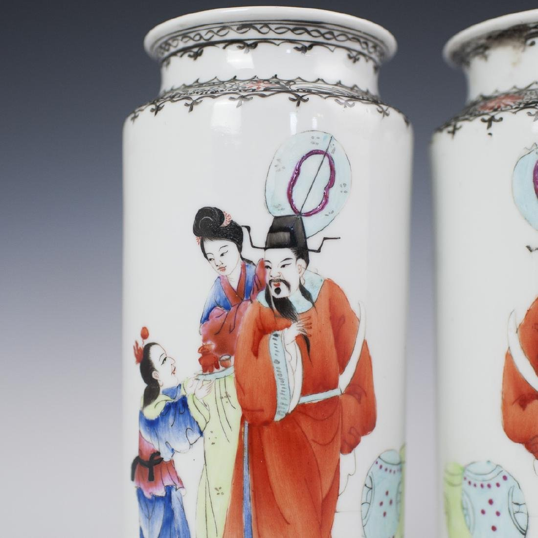 Chinese Porcelain Xiangtuiping Vases - 2