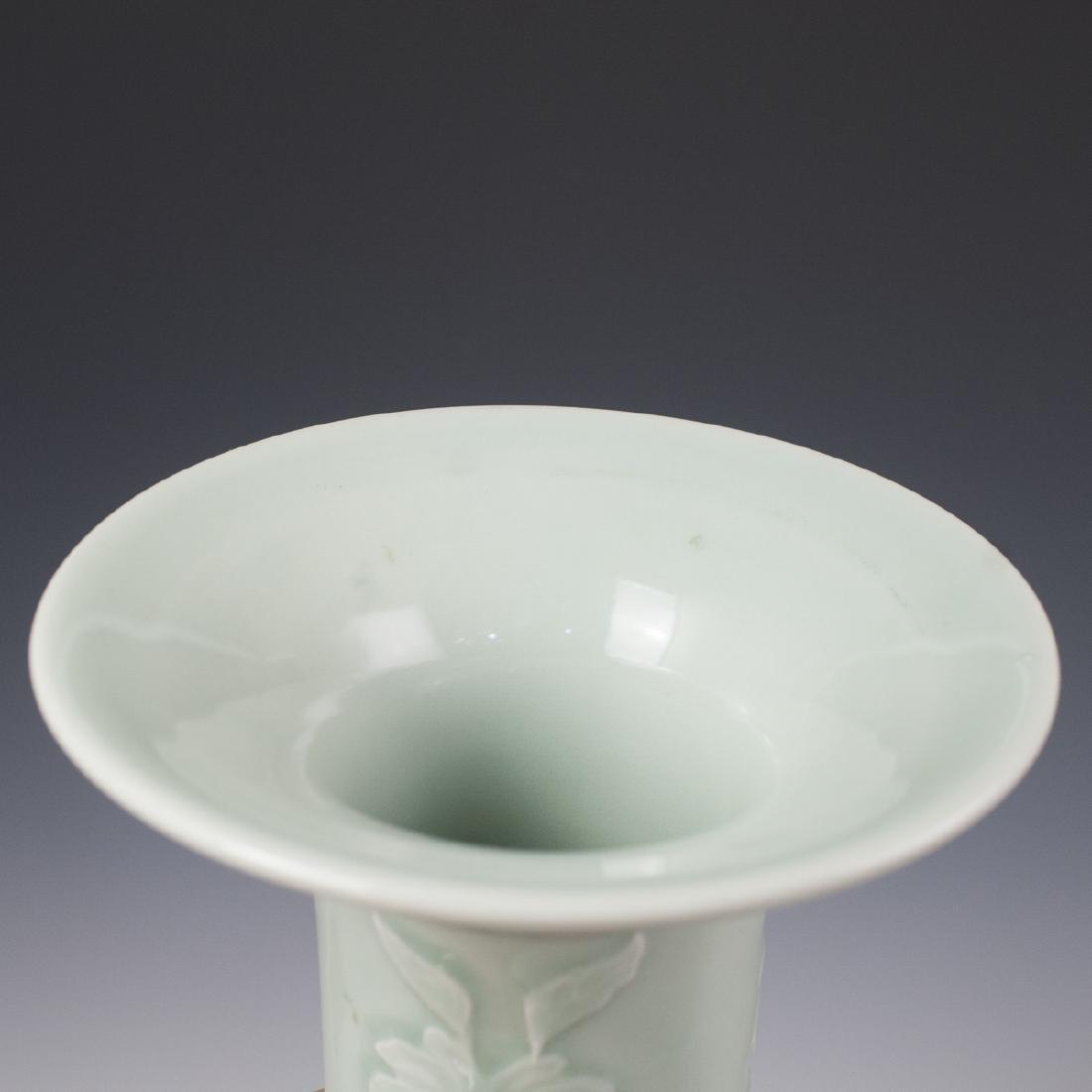 Chinese Celadon Ceramic Fengweizun Vases - 4