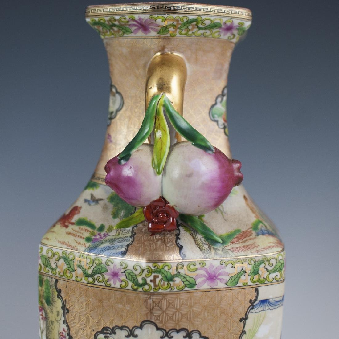 Chinese Rose Medallion Porcelain Vases - 6