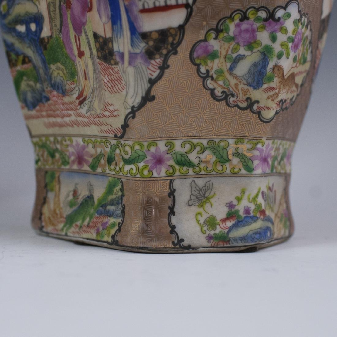 Chinese Rose Medallion Porcelain Vases - 8