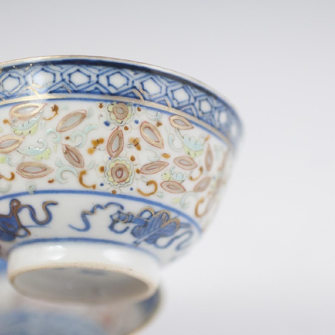 Chinese Porcelain De Riz Ware Demitasse Set - 2