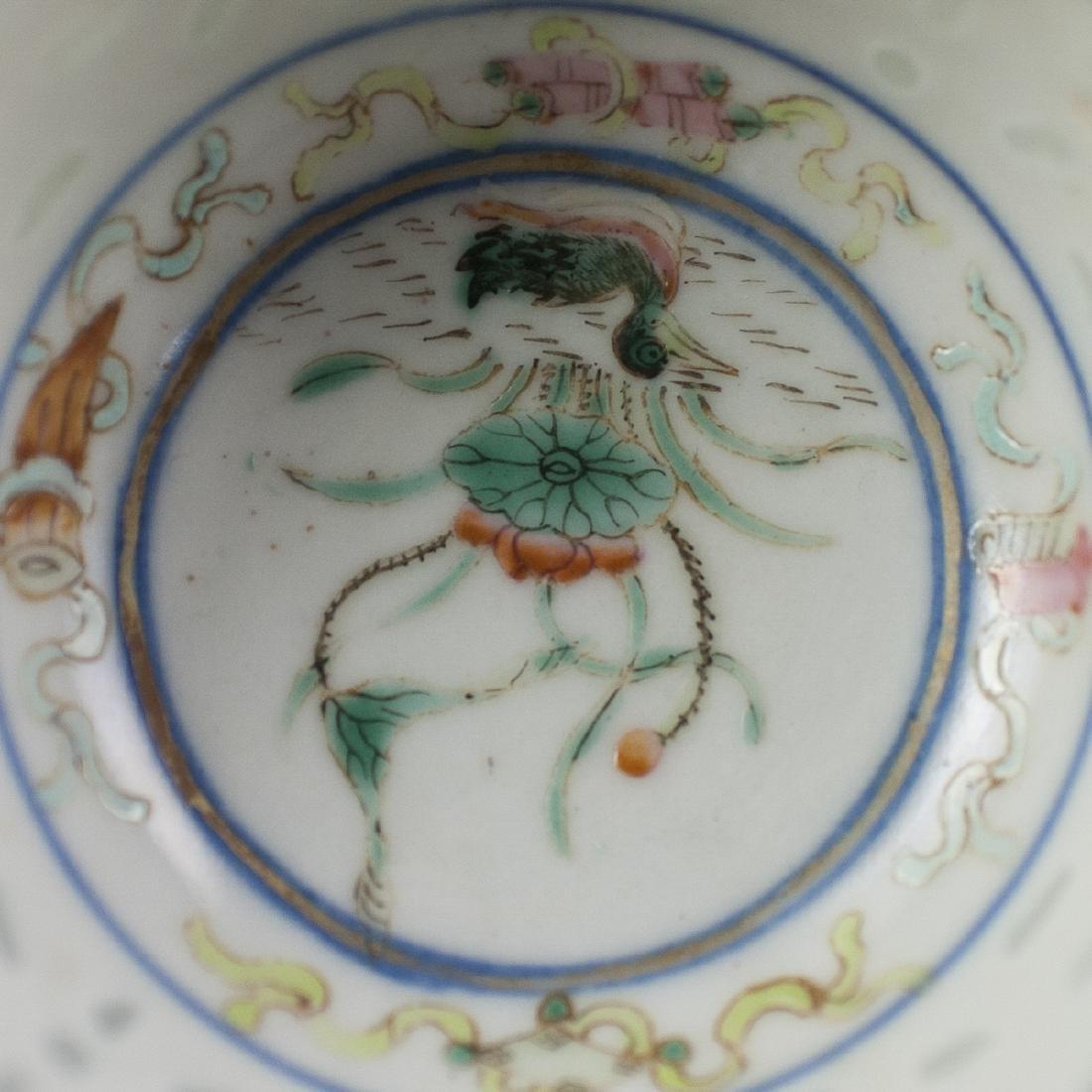 Chinese Porcelain De Riz Ware Demitasse Set - 7