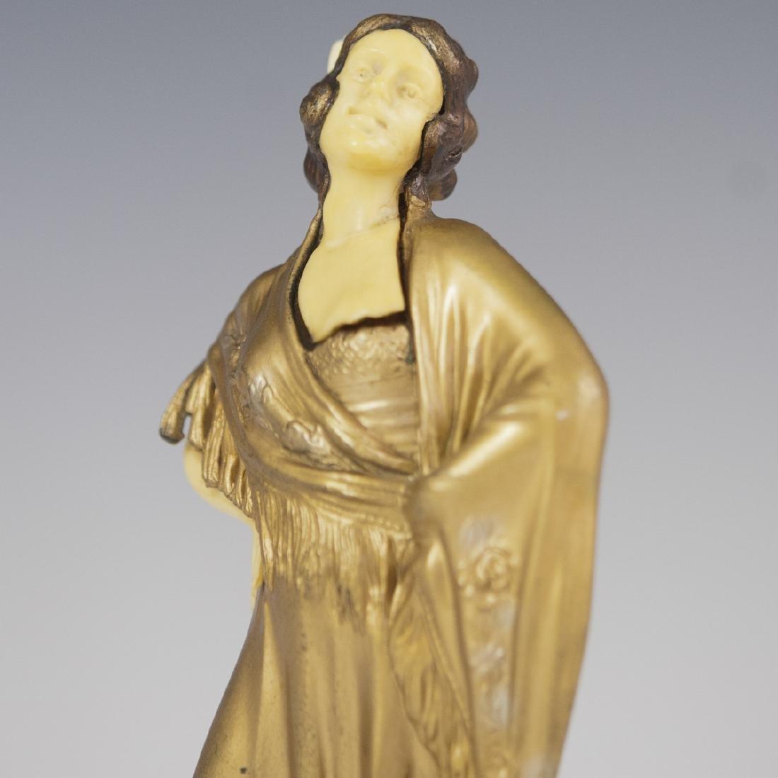Art Deco Polychromed Spelter Sculpture - 2
