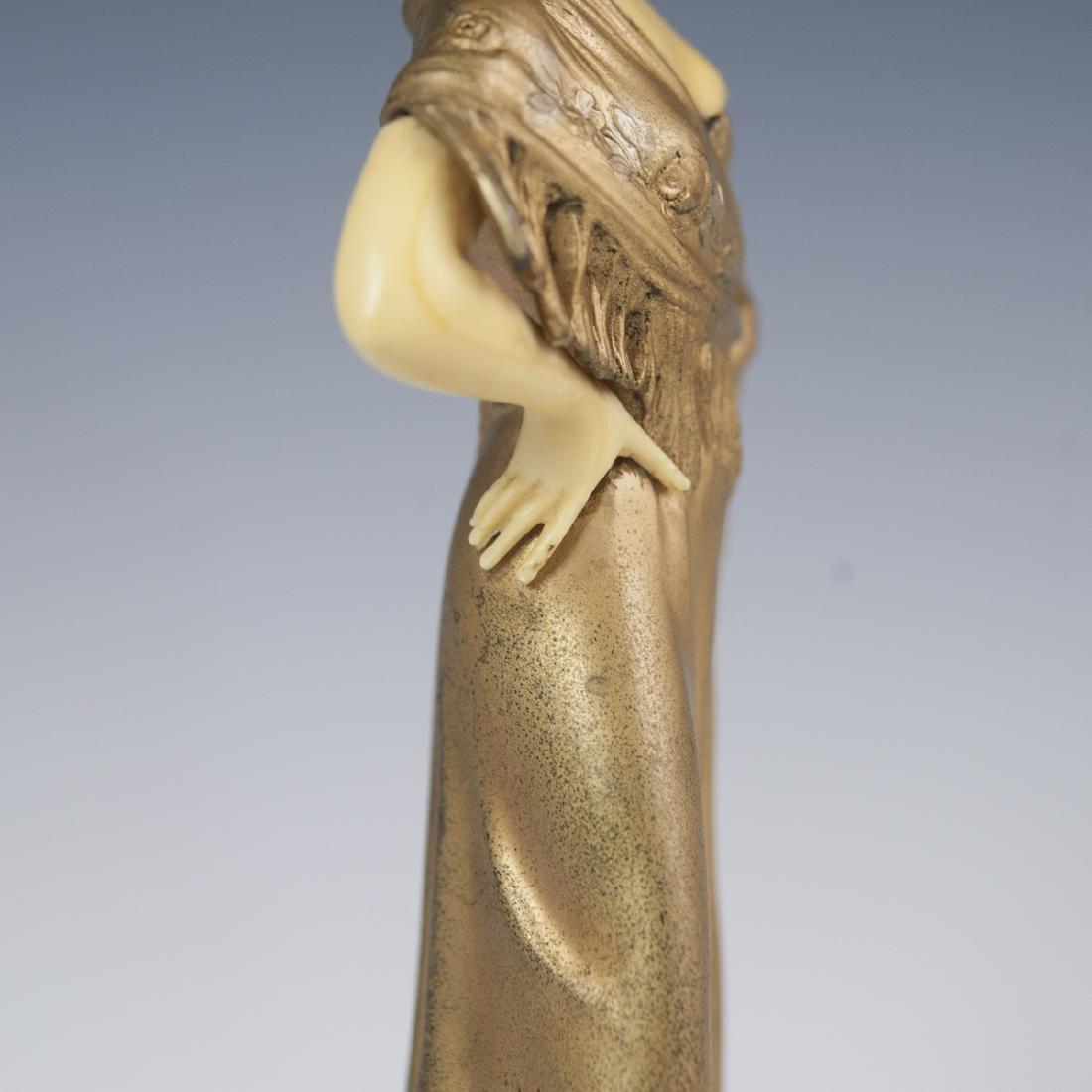 Art Deco Polychromed Spelter Sculpture - 4