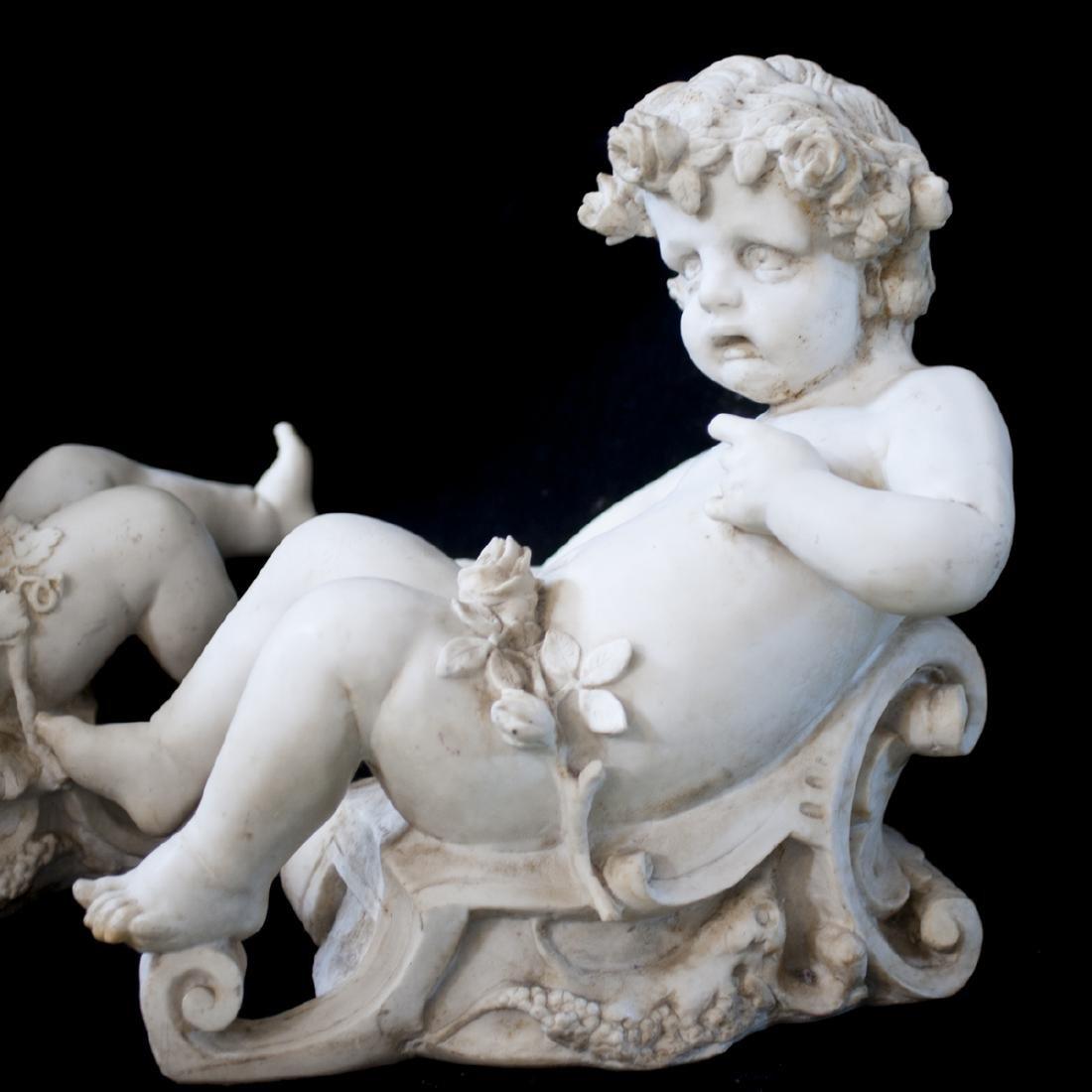 19th Century Italian Marble Cherubs - 5