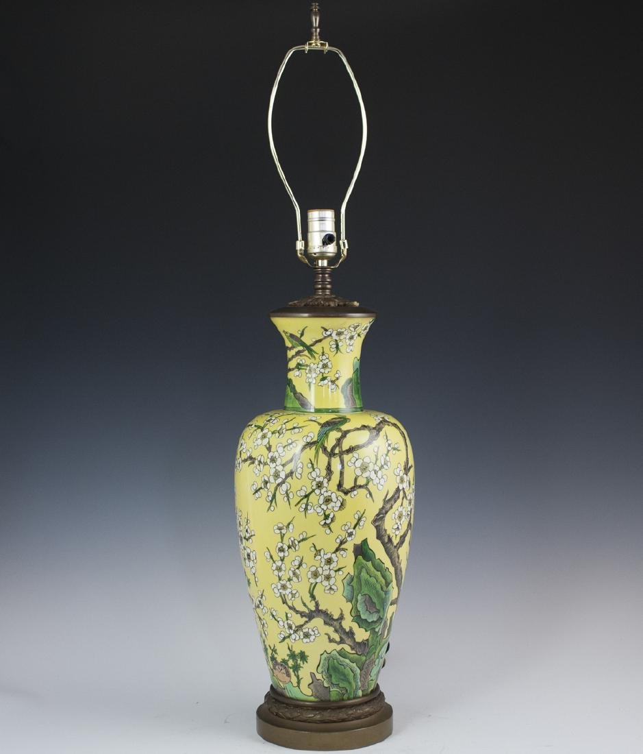 Porcelaine De Paris Chinese Export Style Lamp