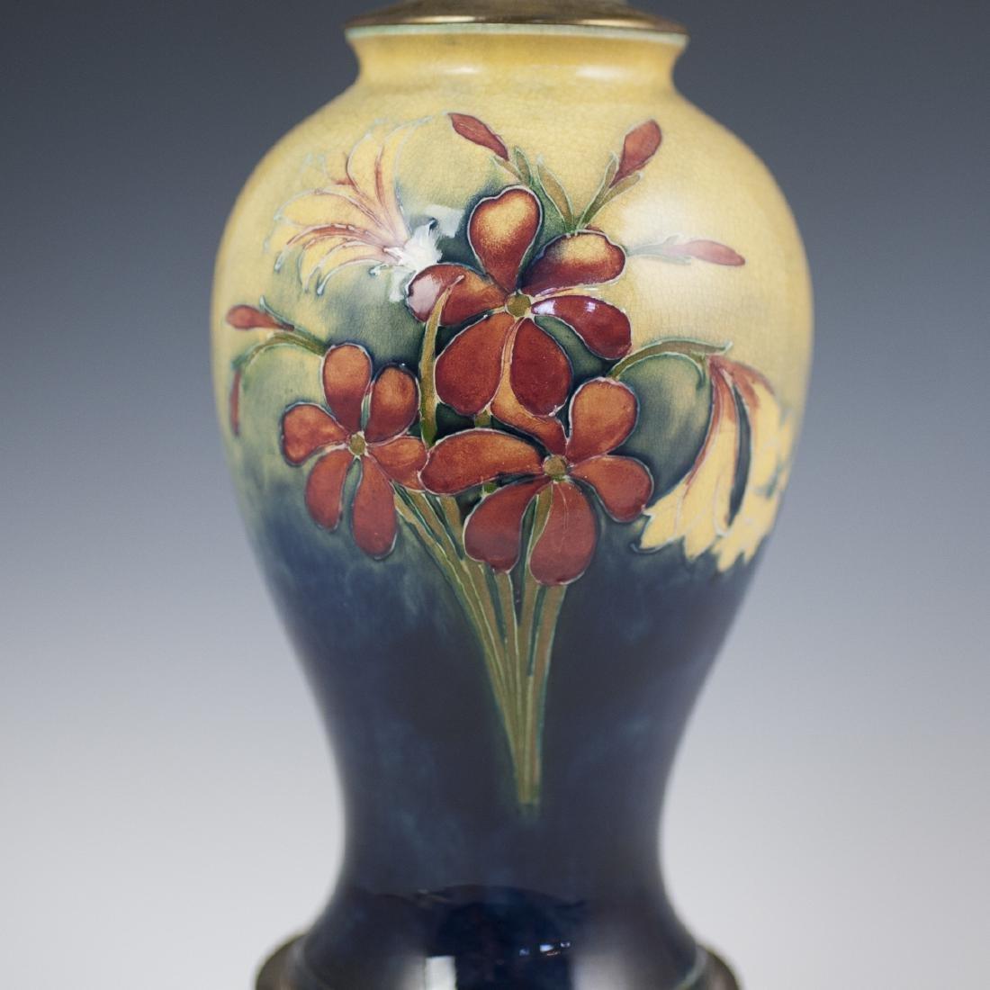 "Moorcroft ""Spring Flowers"" Converted Porcelain Lamp - 2"