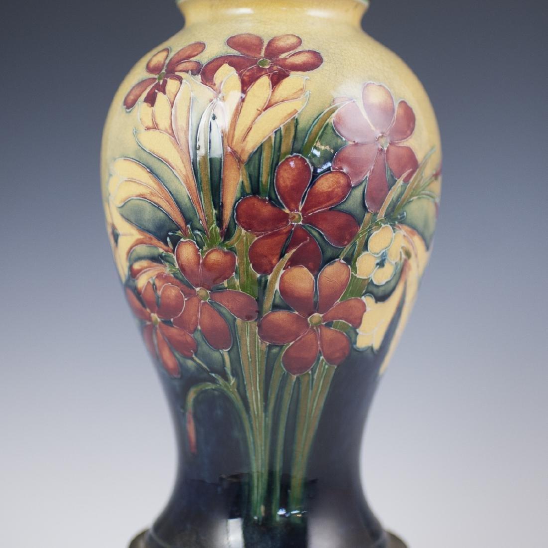 "Moorcroft ""Spring Flowers"" Converted Porcelain Lamp - 3"