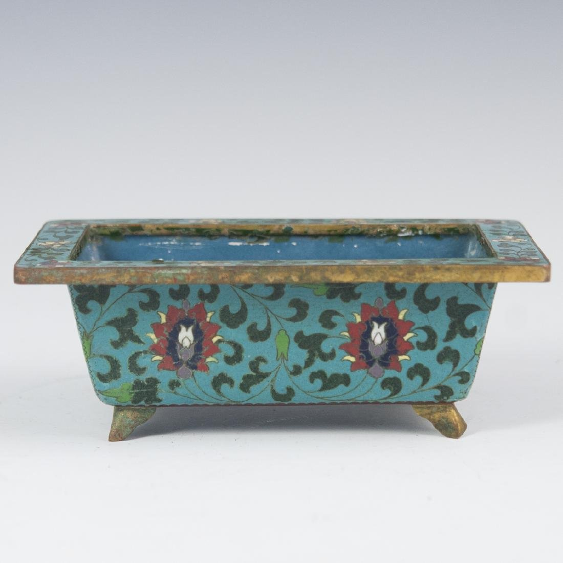 Chinese Cloisonne Enameled Footed Planter