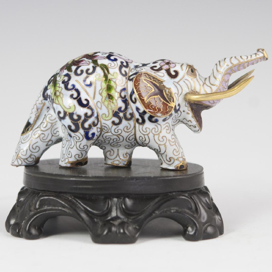 Chinese Cloisonne Enameled Elephant