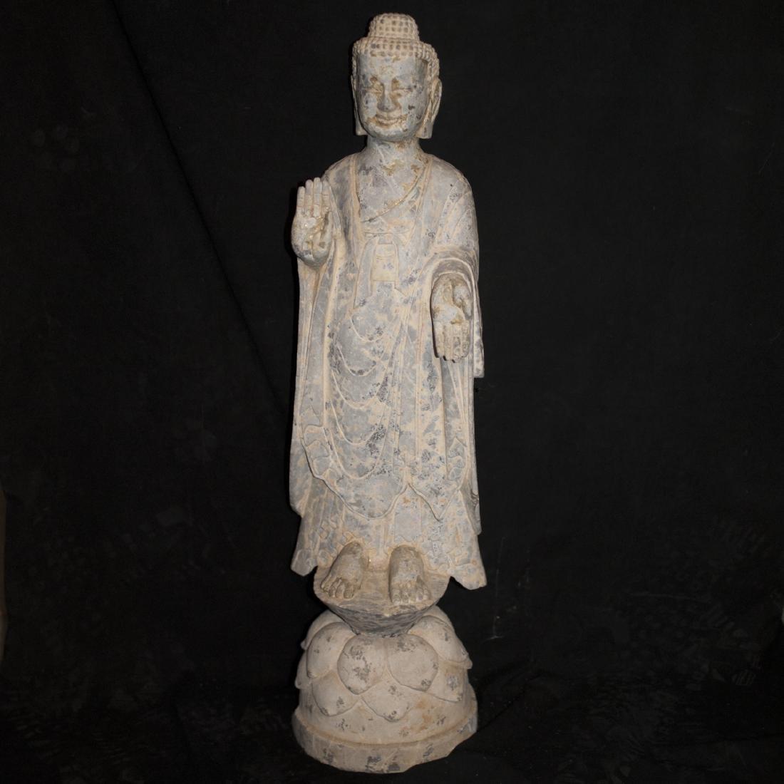 Antique Carved Stone Buddha