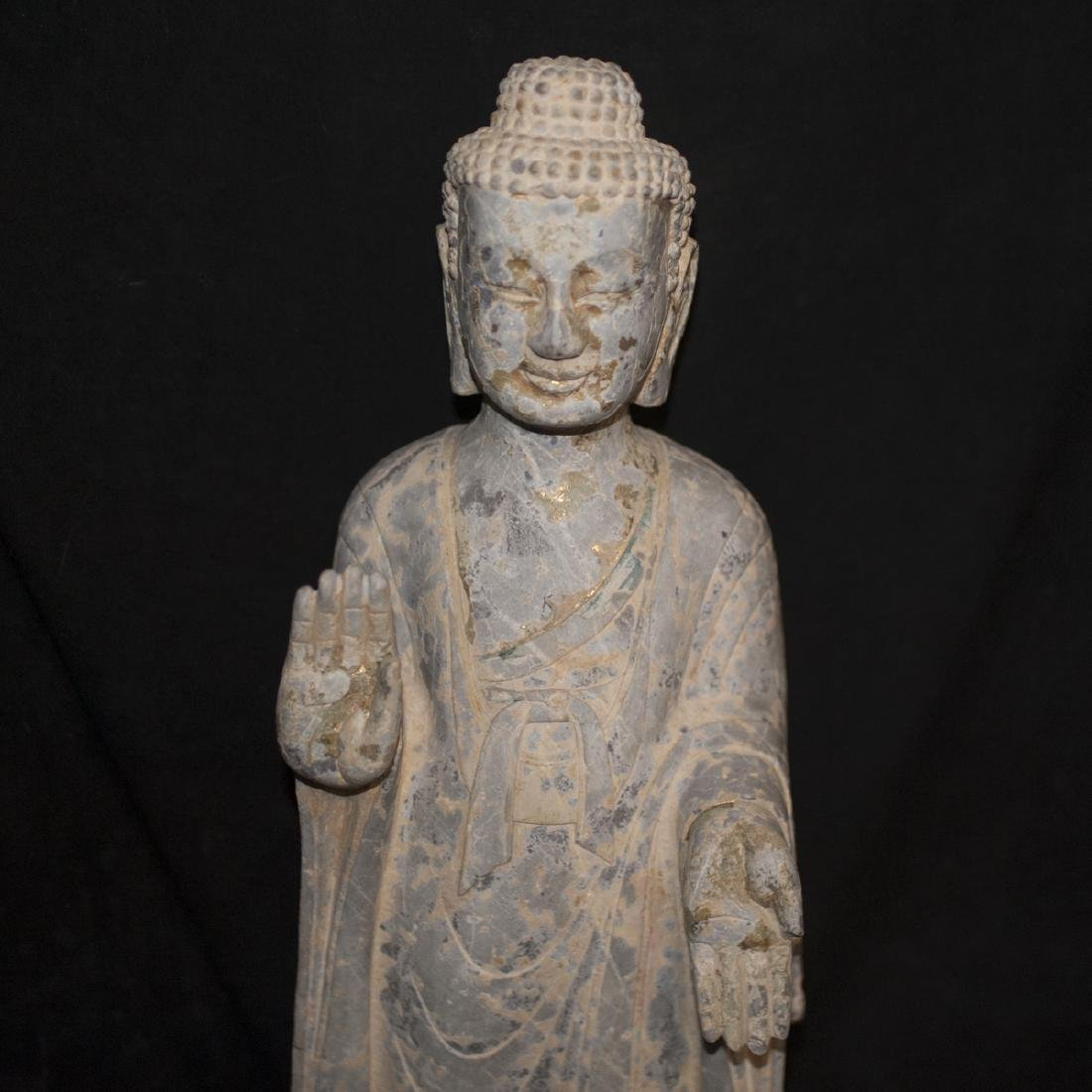 Antique Carved Stone Buddha - 2