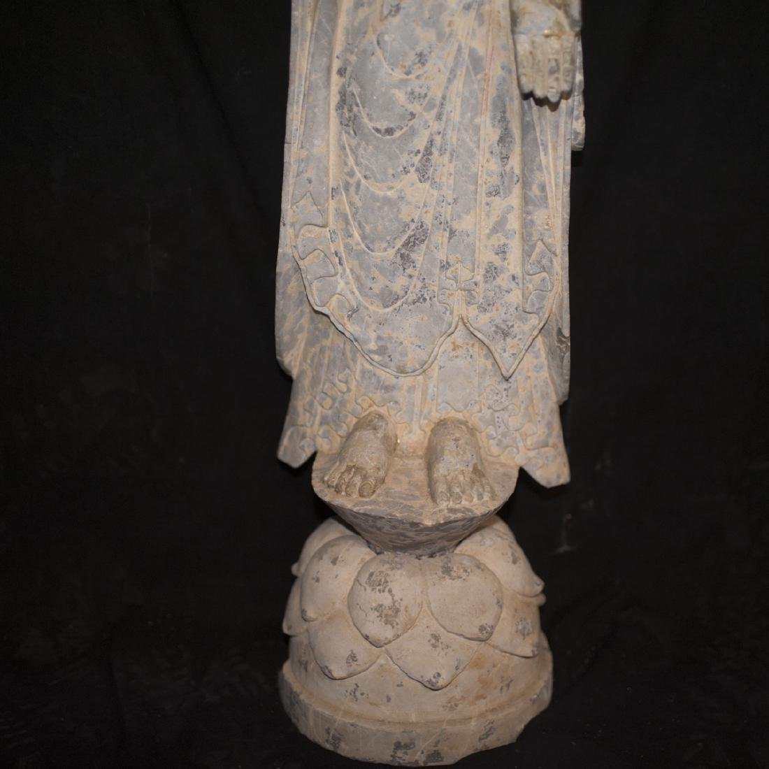 Antique Carved Stone Buddha - 3