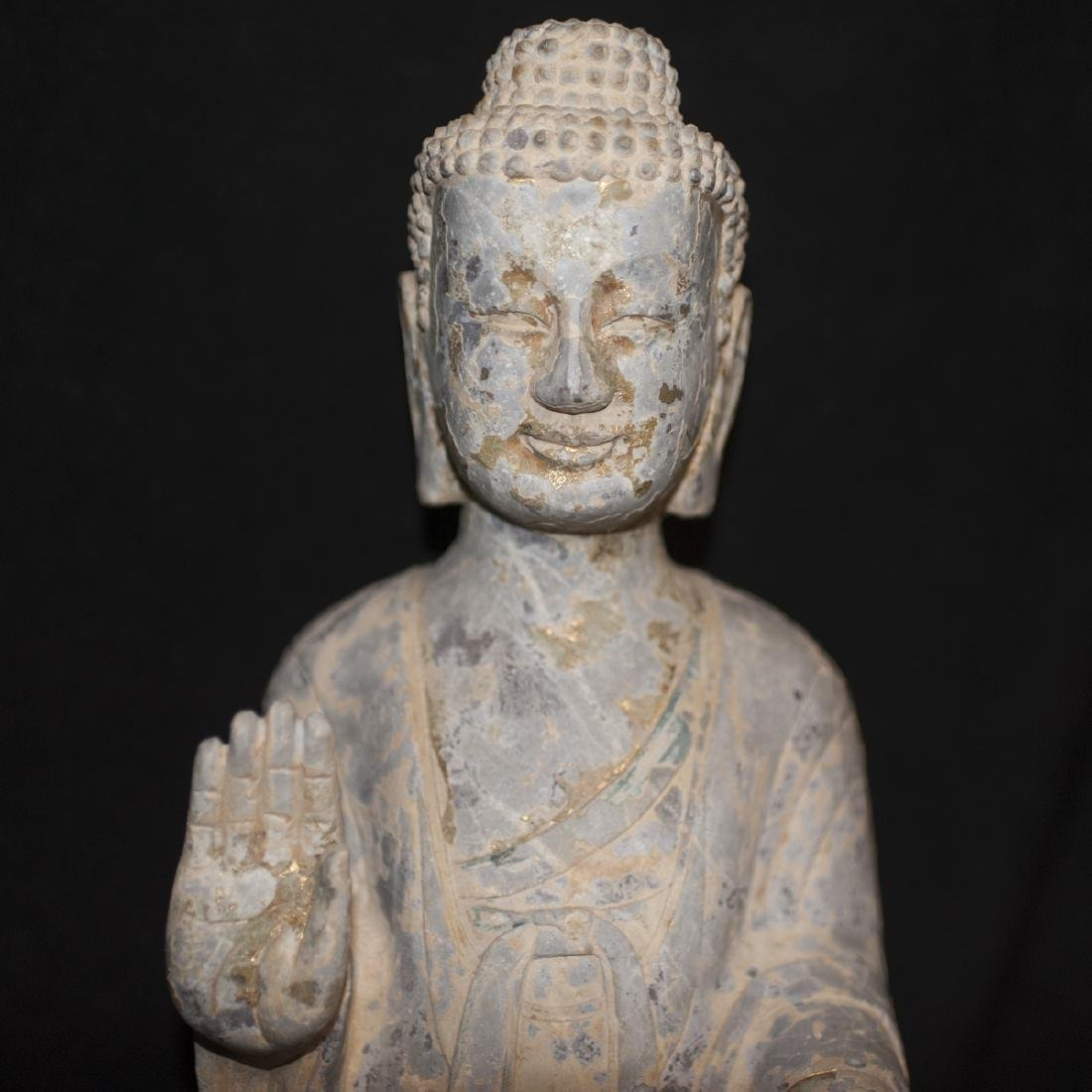 Antique Carved Stone Buddha - 4