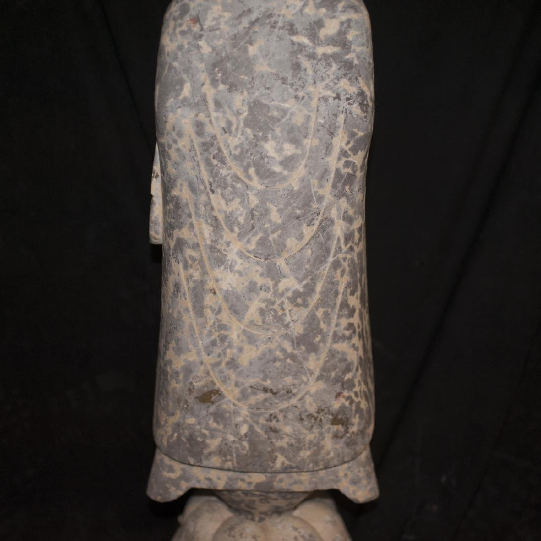 Antique Carved Stone Buddha - 7