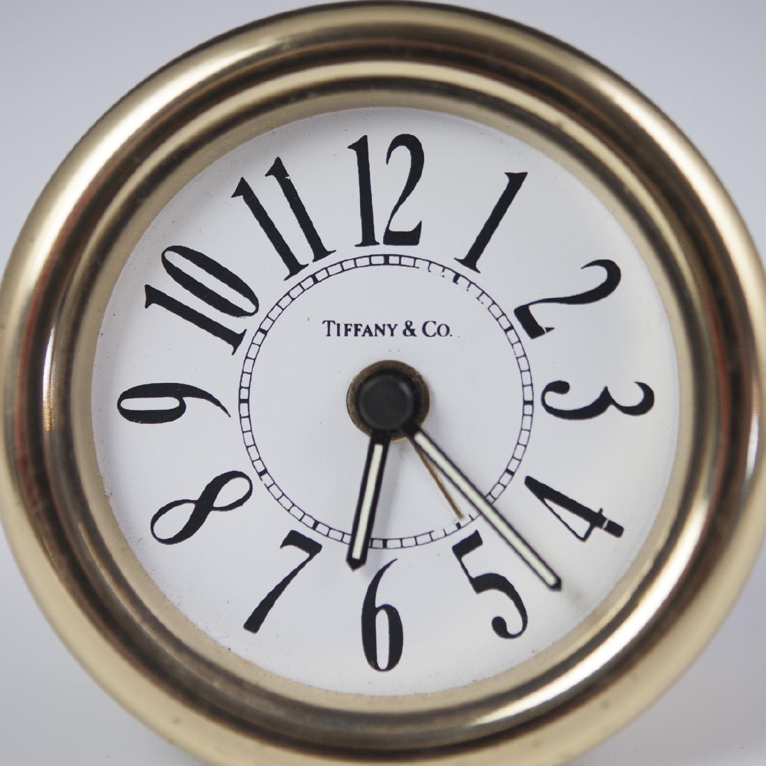 Tiffany & Co. Brass Desk Clock - 2