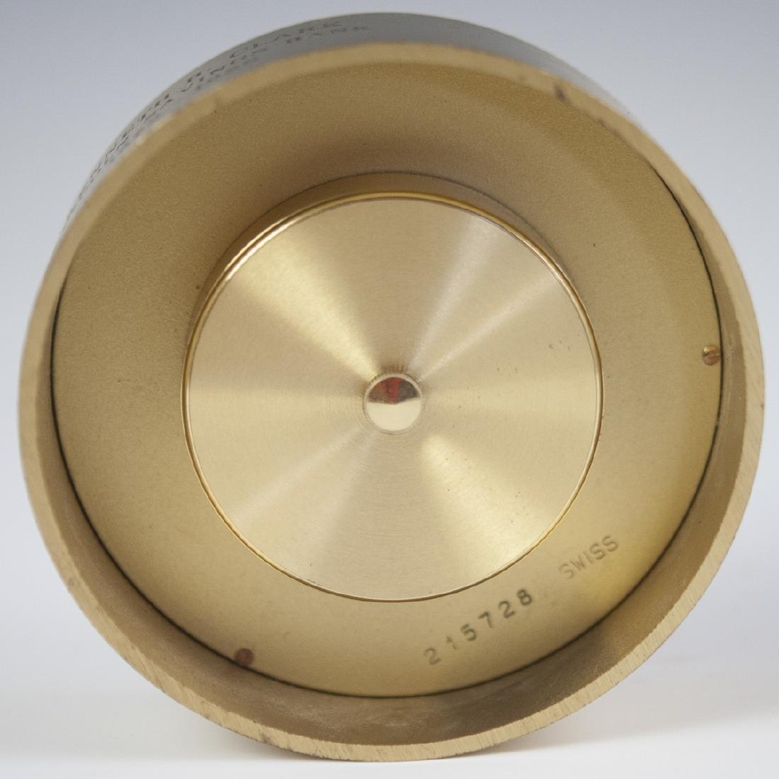 Tiffany & Co. Brass Clock - 3