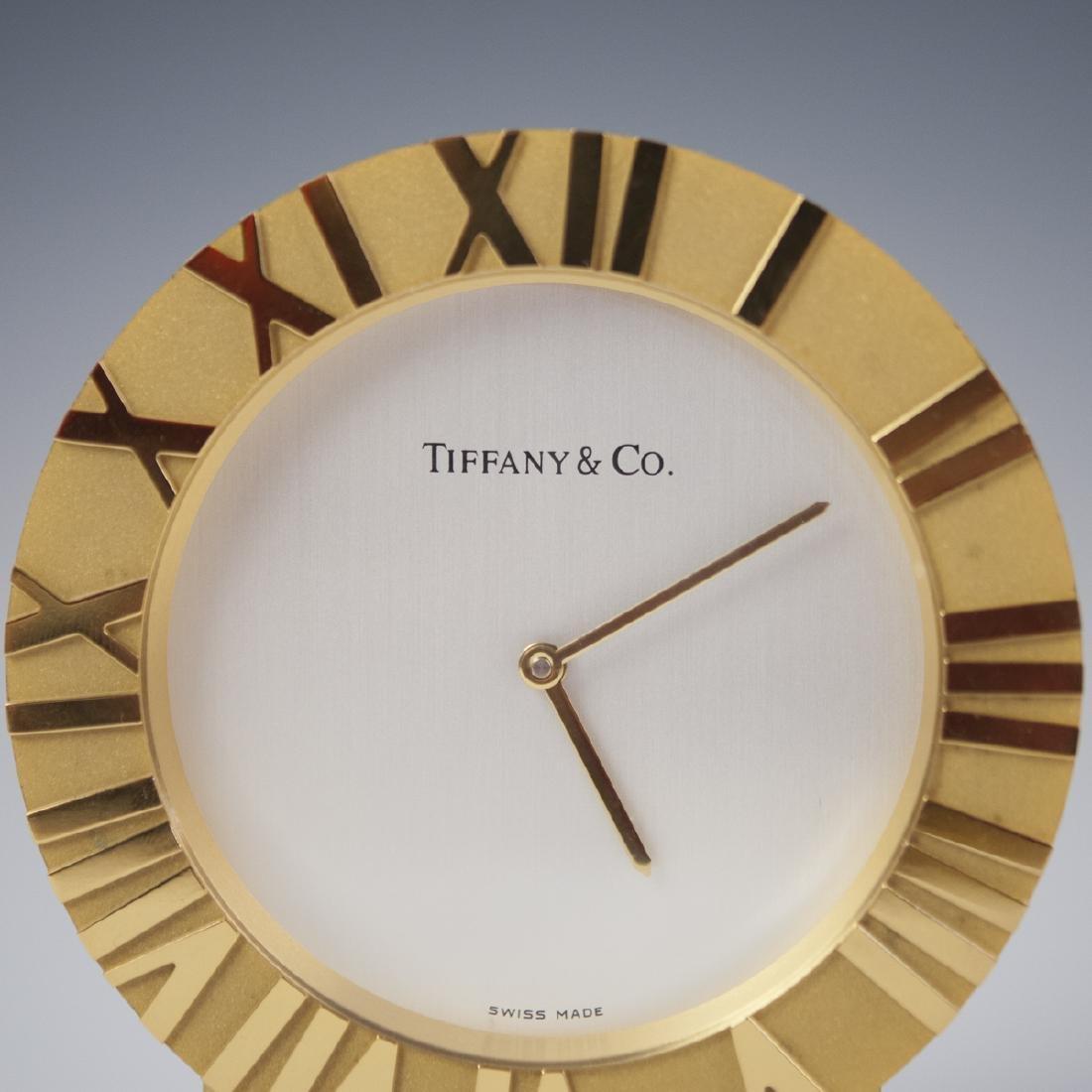 Tiffany & Co. Gilt Brass Desk Clock - 2