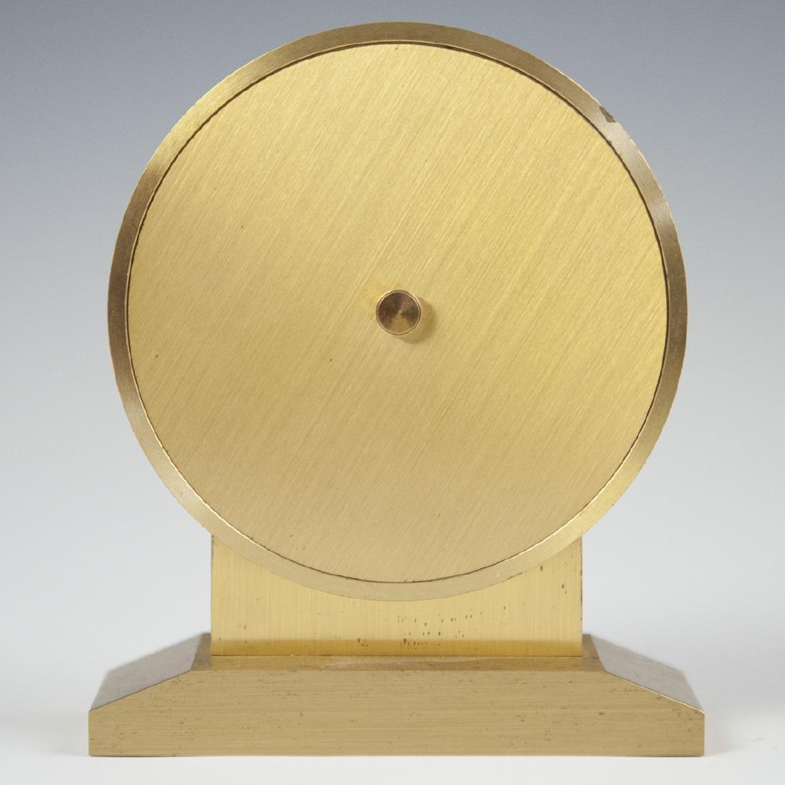 Tiffany & Co. Gilt Brass Desk Clock - 5