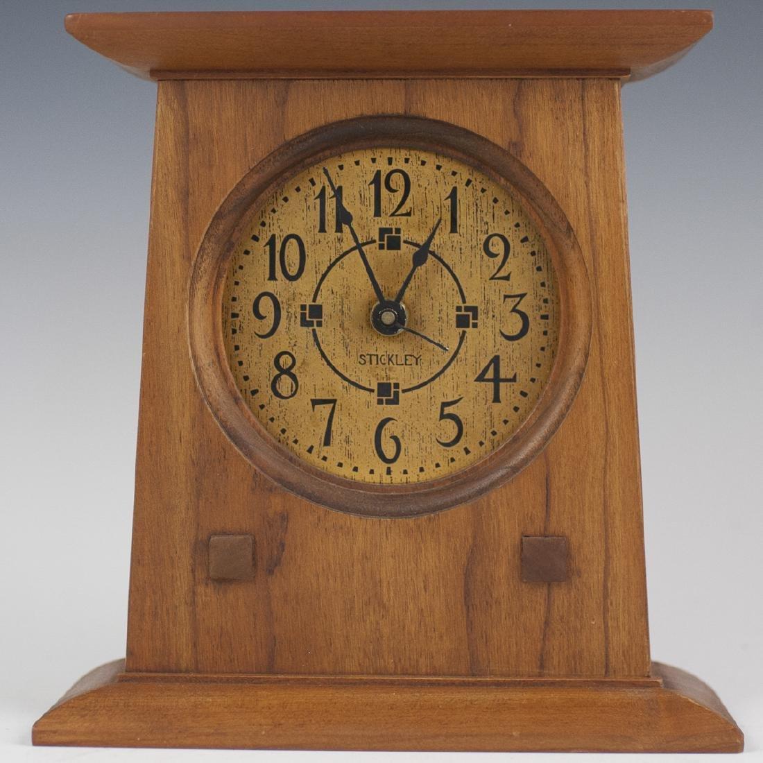 Vintage Stickley Wooden Mantel Clock