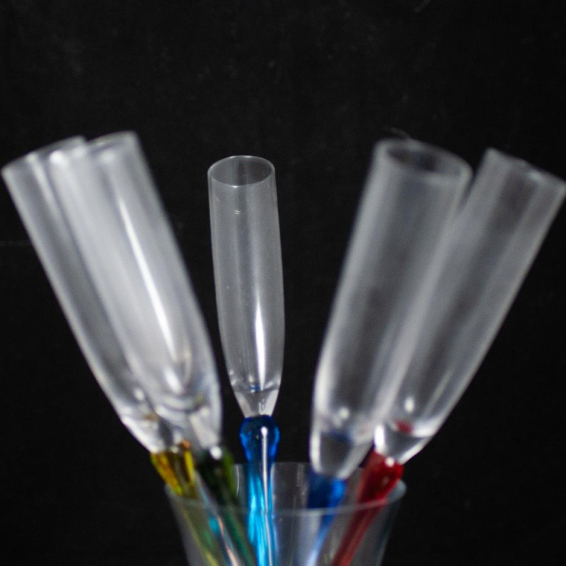 Murano Glass Champagne Flutes - 2