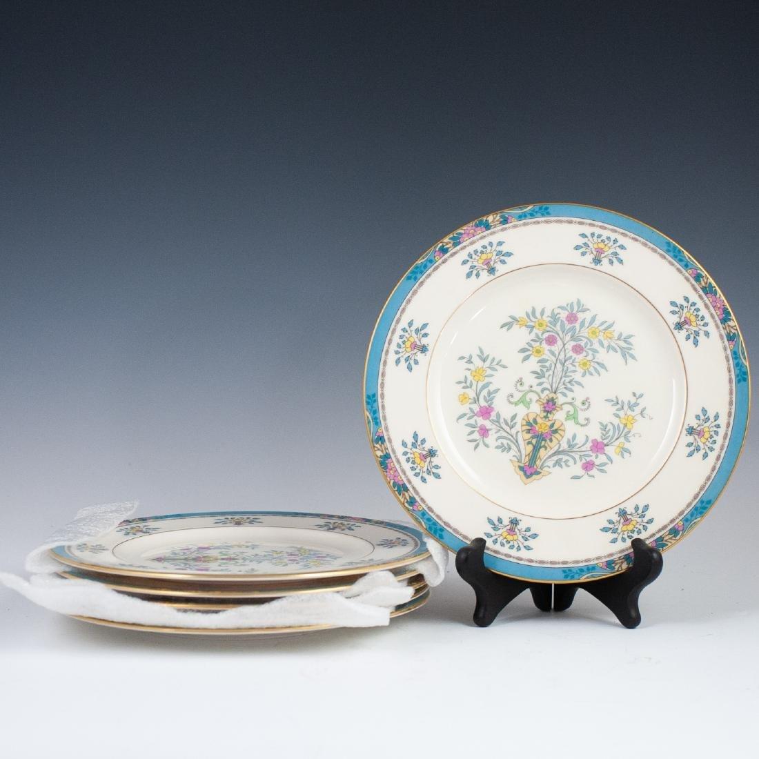 "(6) Lenox Porcelain ""Blue Tree"" Salad Plates"
