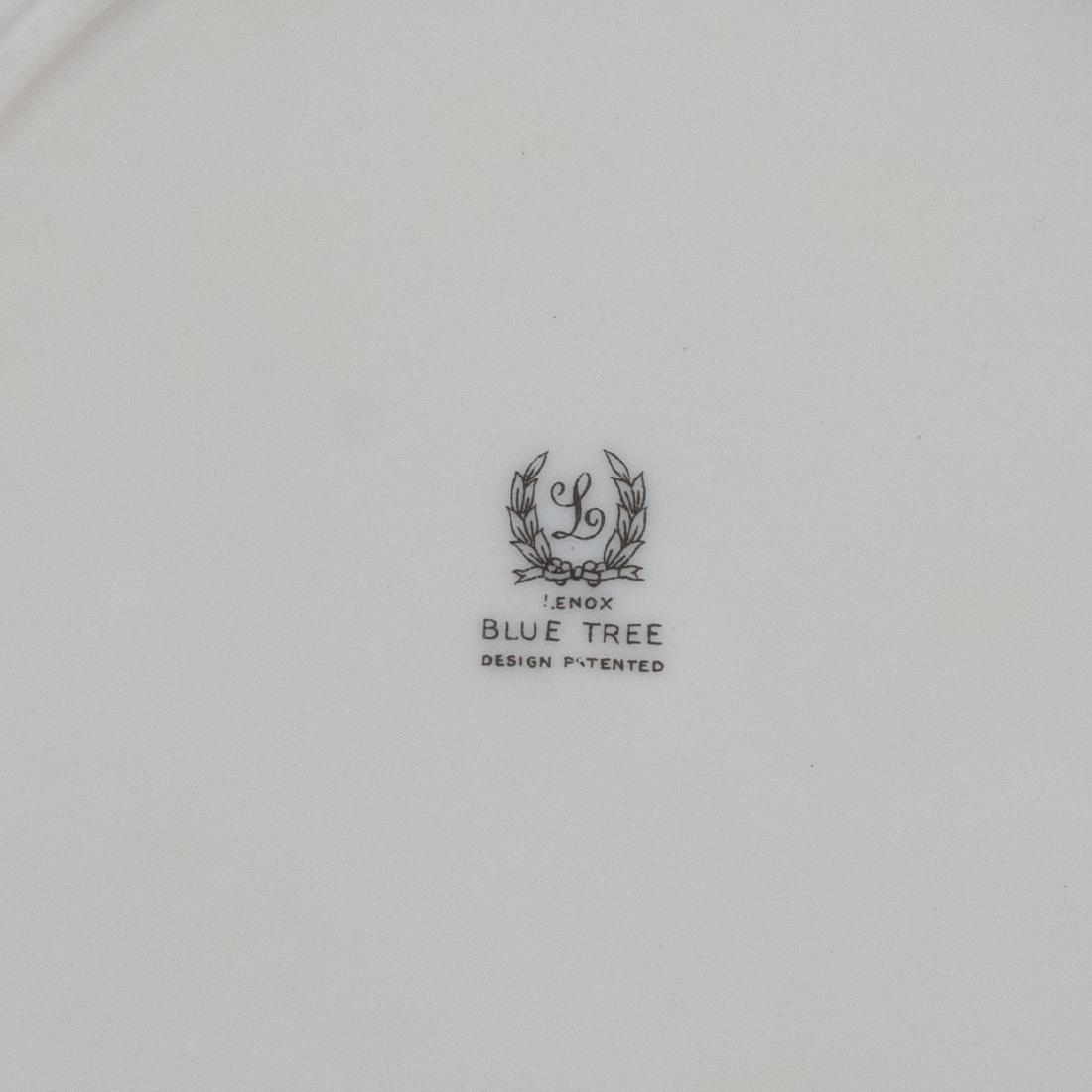 "(6) Lenox Porcelain ""Blue Tree"" Salad Plates - 3"