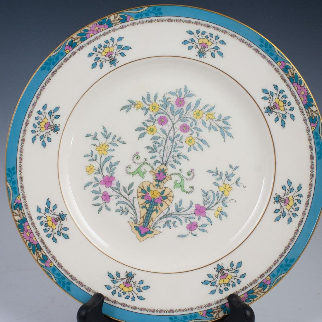 "(6) Lenox Porcelain ""Blue Tree"" Salad Plates - 4"