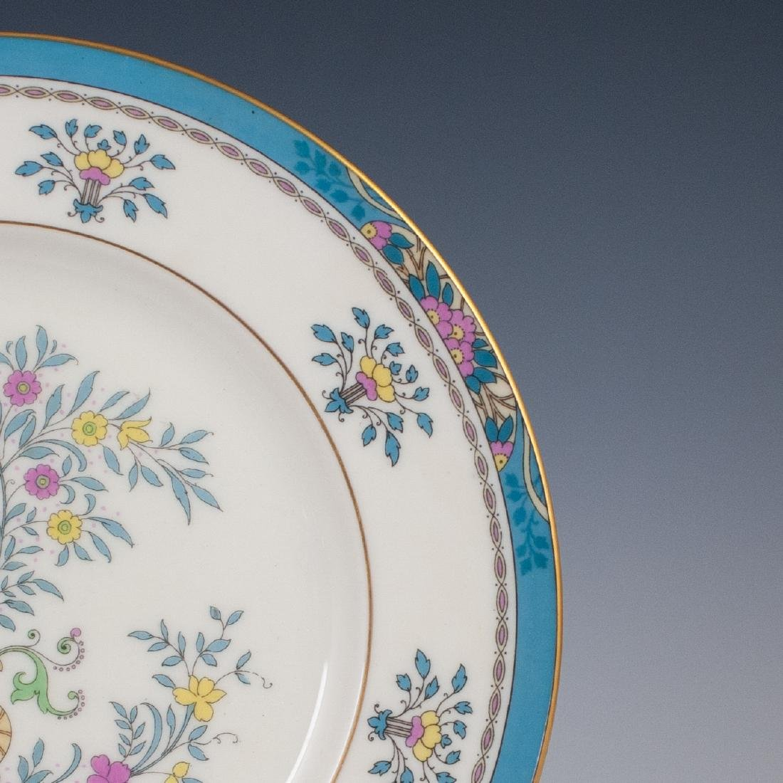 "(6) Lenox Porcelain ""Blue Tree"" Salad Plates - 5"